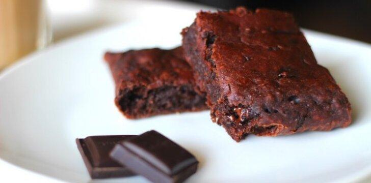 Šokoladinis ir bananinis pyragas be kiaušinių ir riebalų