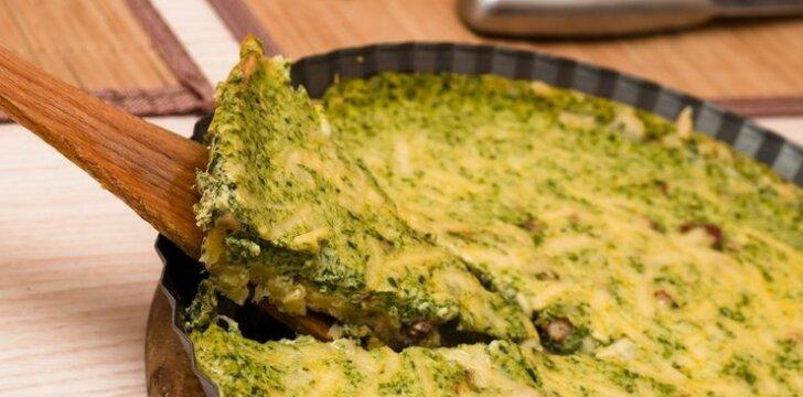 Daržovių pyragas su rūkyta šonine