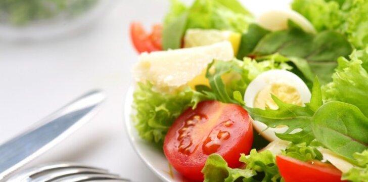 Gaivios salotos su pomidorais ir kiaušiniais