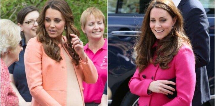 """Nėščia <span style=""""color: #ff0000;"""">Kate Middleton</span> visuomet atrodo puikiai, nes taiko svarbią stiliaus taisyklę"""
