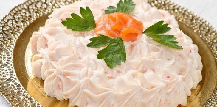 Lašišos putėsiai plikytų pyragaičių įdarui