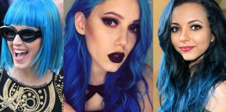 Garsiausios mėlynaplaukės: Monikos Pundziūtės šukuosena turi konkurenčių užsienyje (FOTO)
