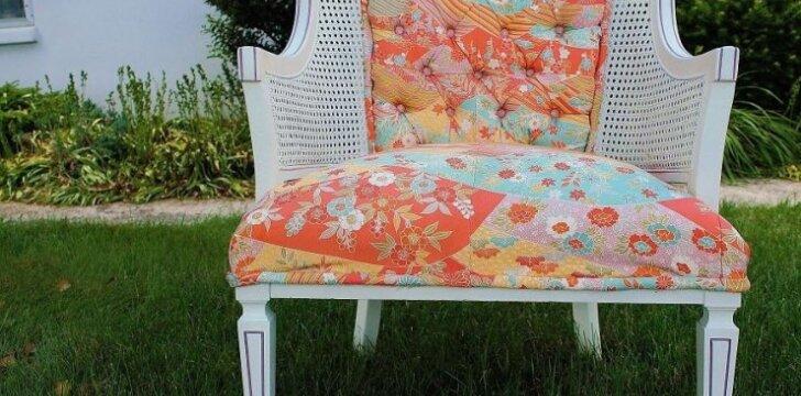 Darau pats: japoniško kimono panaudojimas kėdės atnaujinimui