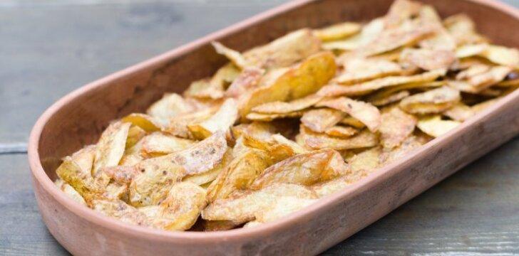 Traškios bulvių lupenos