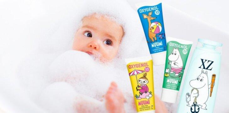 Laimėkite MUUMI vonios priemonių rinkinius mažyliams!