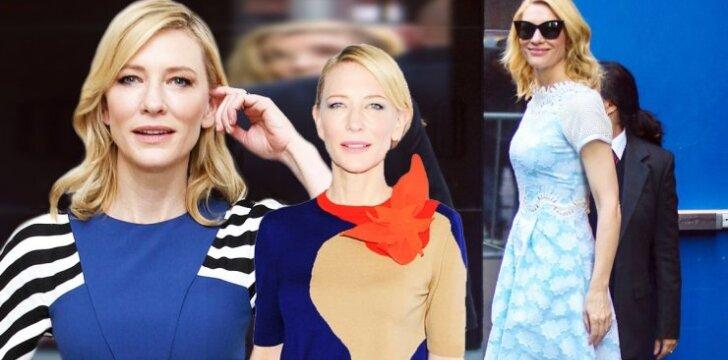 Cate Blanchett išvaizdos pokyčiai tarsi paauglės