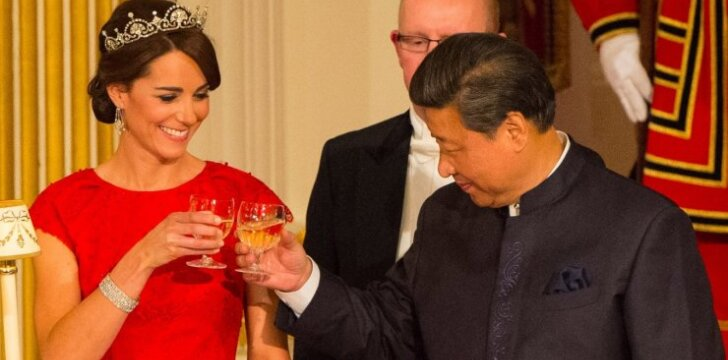 Kate Middleton ir Kinijos prezidentas Xi Jinping
