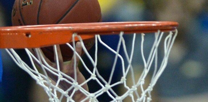 Krepšinio lankas ir kamuolys