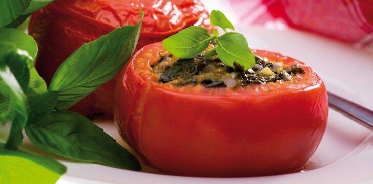 KEPK. Pomidorai, įdaryti špinatais ir sūriu