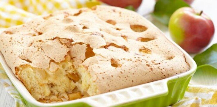 LENGVAS KAIP PŪKAS obuolių pyragas