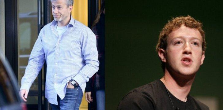 Romanas Abramovičius ir Markas Zuckerbergas