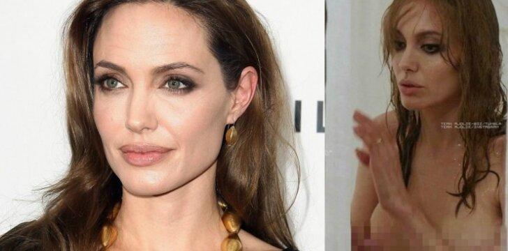 """Po atliktos mastektomijos <span style=""""color: #c00000;"""">Angelina Jolie išdrįso</span> apnuoginti savo krūtis"""
