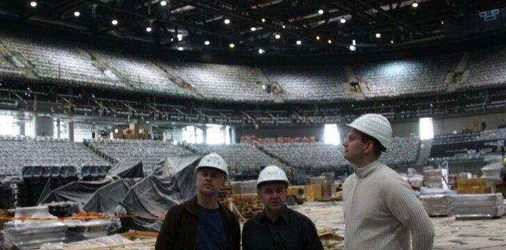 Mindaugas Špokas apžiūri Kauno areną