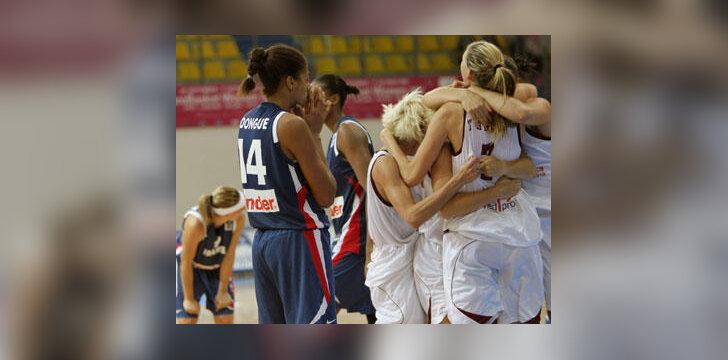 Latvijos krepšininkių pergalės džiaugsmas ir prancūzių apmaudas