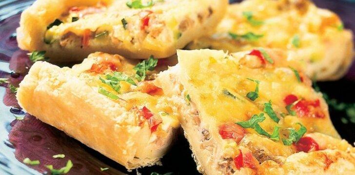 Vištienos ir daržovių pica