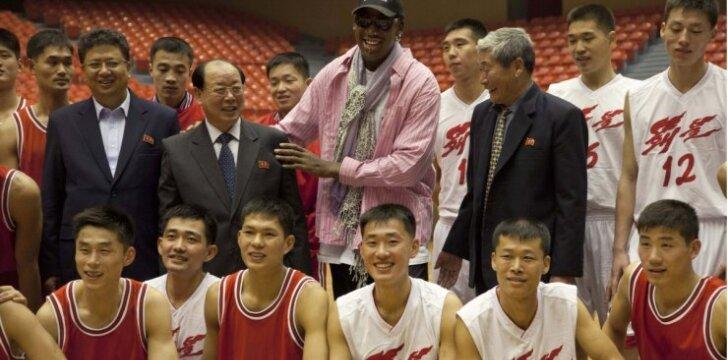 D. Rodmanas Šiaurės Korėjoje