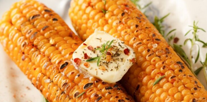 Orkaitėje keptos kukurūzų burbuolės