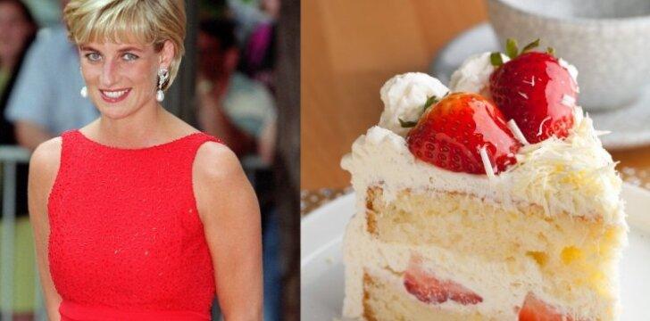 Princesė Diana ir tortas su braškėmis