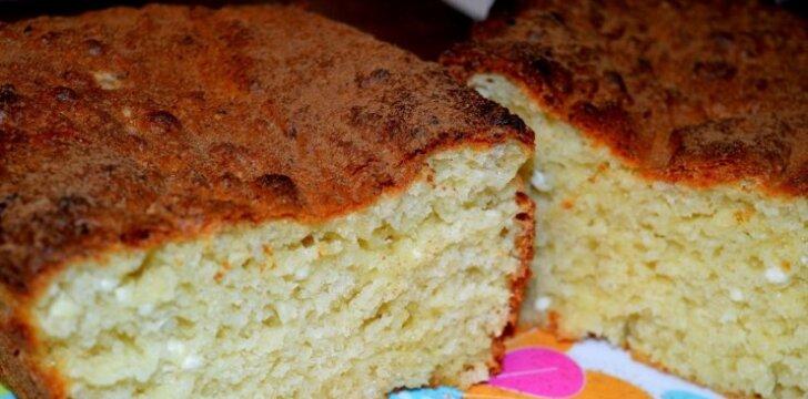 Varškės pyragas su citrina