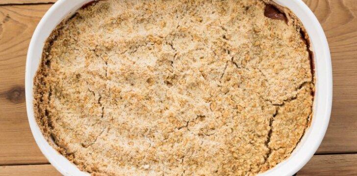 Neapsakomo skanumo obuolių pyragas