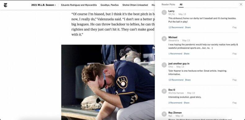 """Komentarų pavyzdys """"The New York Times"""""""