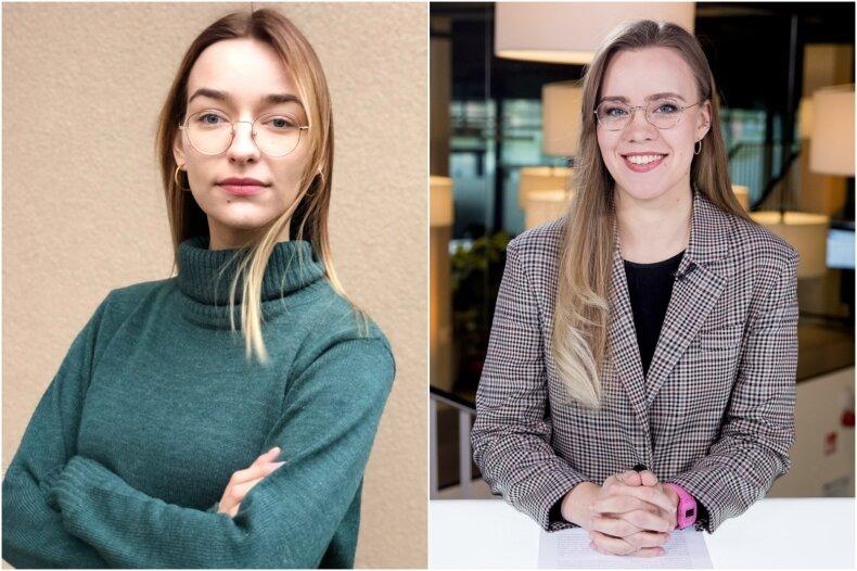 Rugilė Matusevičiūtė ir Aurelija Karaliūtė