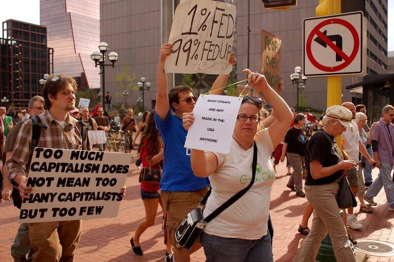 Protestas dėl turtinės nelygybės