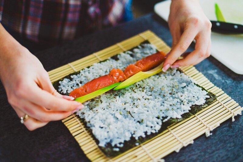 Sushi gaminimas