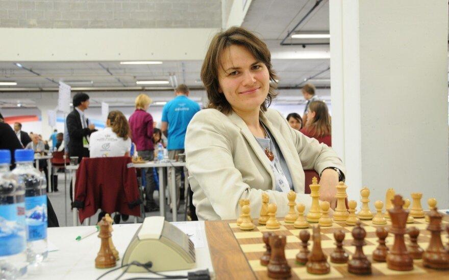 Europos moterų šachmatų čempionate pergale džiaugėsi tik S. Zaksaitė