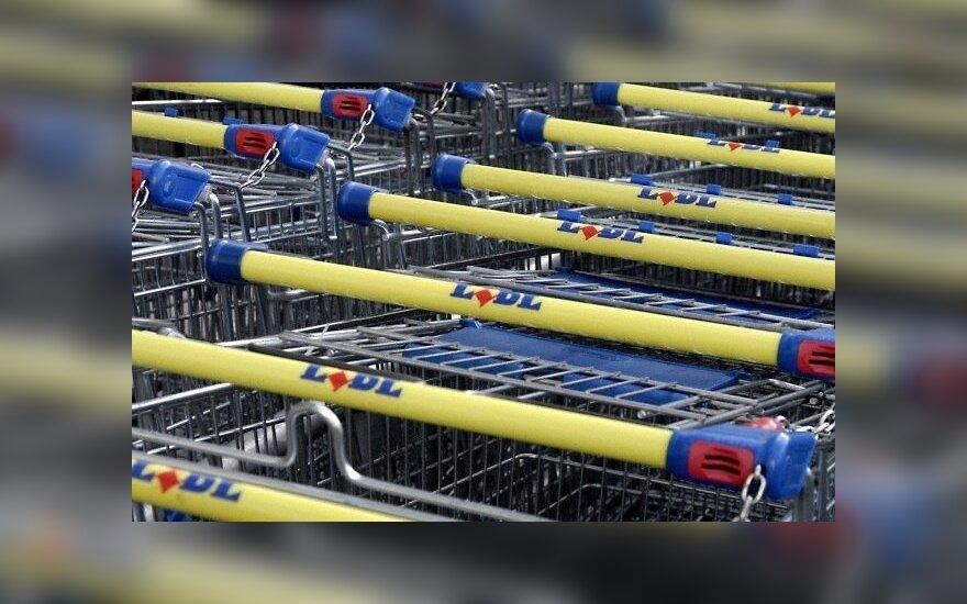 Lidl prekybos tinklo prekių vežimėliai