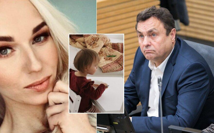 Birutė Navickaitė teigia, kad Petras Gražulis neatsiklausęs nukirpo jųdviejų dukros plaukus/Foto: Delfi ir asmeninio albumo nuotr.