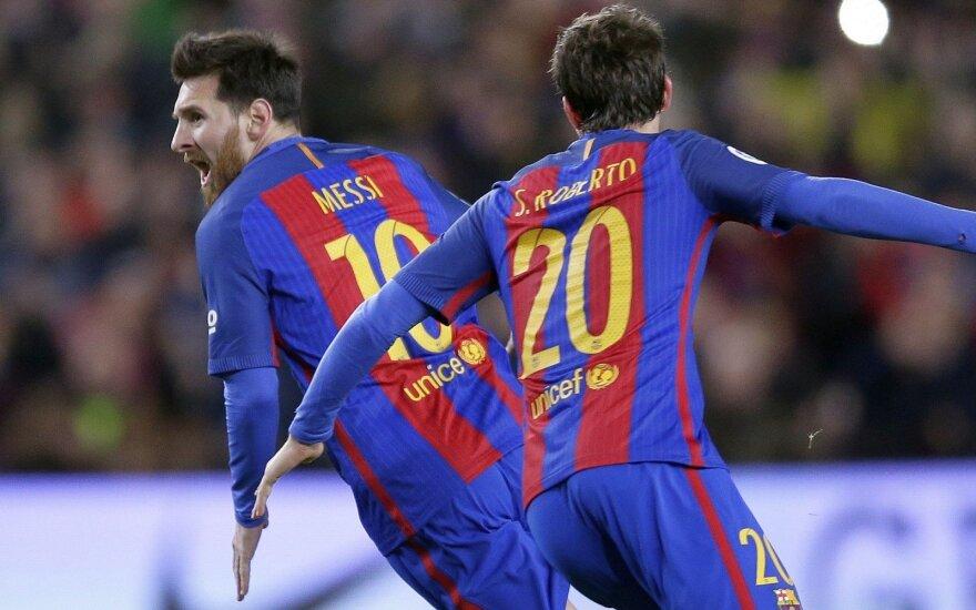 """L. Messi įvarčiu-gražuoliu ištraukė """"Barceloną"""" į ketvirtfinalį"""