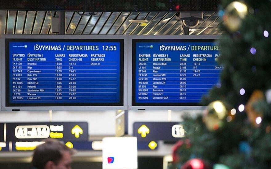 Sumaištis Vilniaus oro uoste: dėl klaidinančios informacijos devyni keleiviai neišskrido