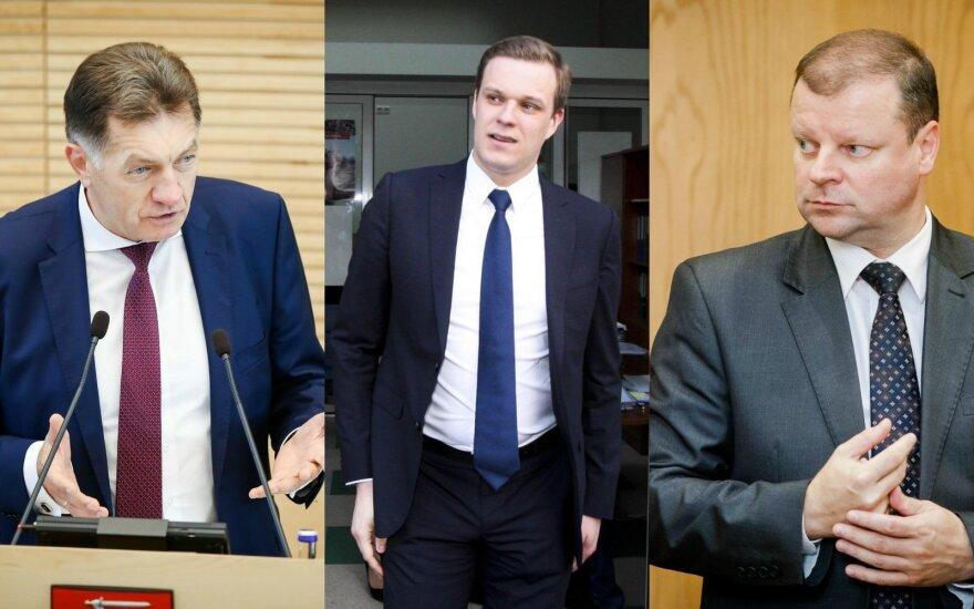 Algirdas Butkevičius, Gabrielius Landsbergis and Saulius Skvernelis