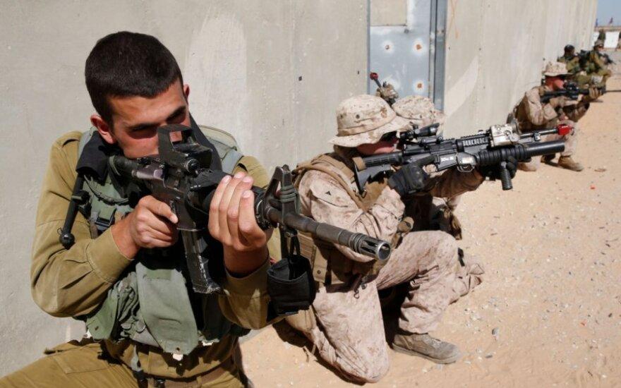 JAV ir Izraelio kariai pratybose