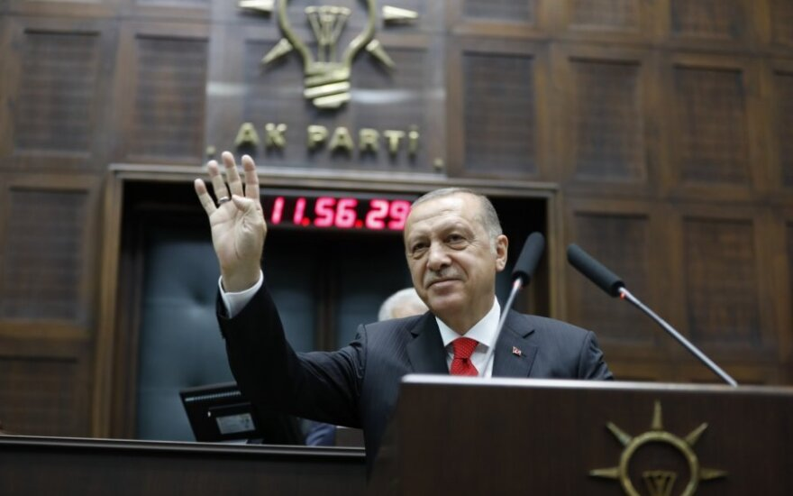 Recepas Tayipas Erdoganas davė prezidento priesaiką