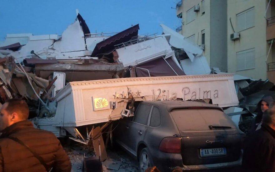 Albaniją supurtė galingas žemės drebėjimas, kilo panika