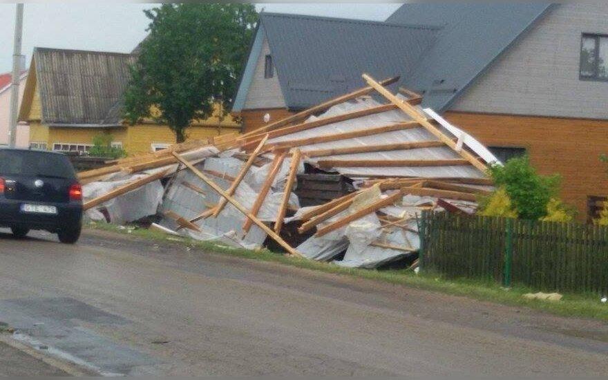 Draudimo bendrovė: audros žala vidutiniškai siekia 500 eurų
