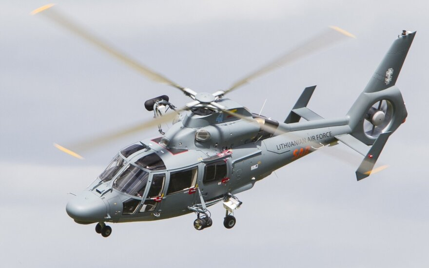 Lithuanian airforce Dauphin helicopter