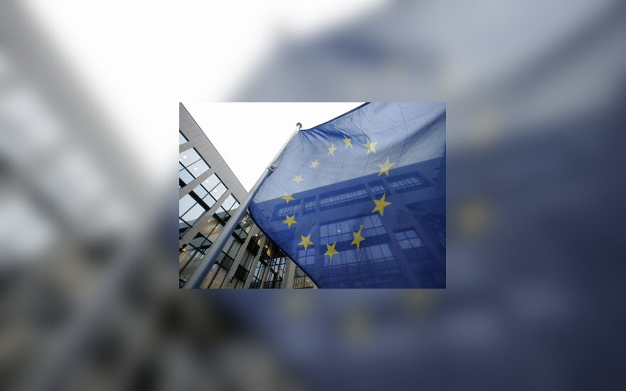 Europos Sąjungos vėliava Briuselyje.