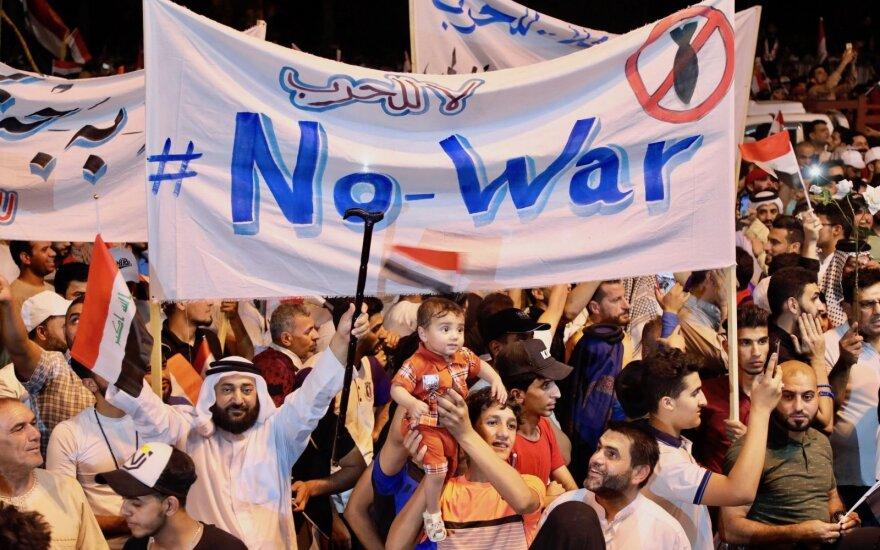 Protestas prieš karo veiksmus Irake, Bagdade