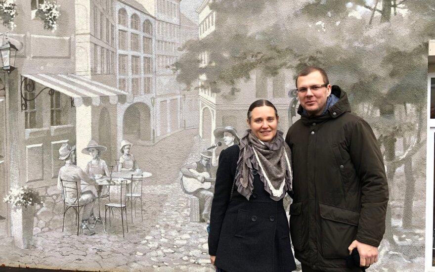 Į Lietuvą grįžę Marija Dilytė ir Algis Žukauskas