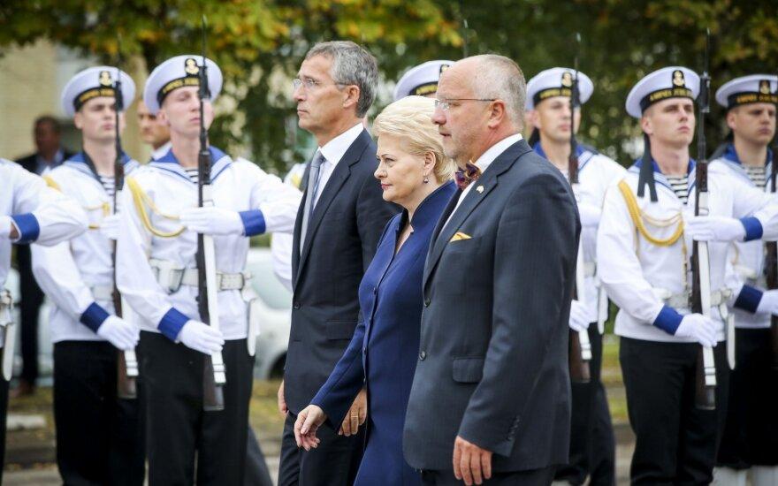 Jens Stoltenberg, Dalia Grybauskaitė, Juozas Olekas