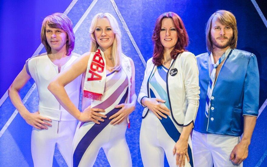 Vaškinės ABBA narių figūros ABBA muziejuje, Švedijoje