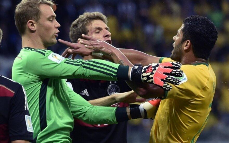 Vokiečiai surengė viešas Brazilijos rinktinės pakasynas ir žengė į pasaulio čempionato finalą