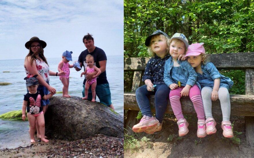 Tris mergaites auginantys Dovilė ir Žygimantas pasidalijo tvirtos šeimos receptu: vaikai turi būti ne šeimos centras, o šeimos dalis