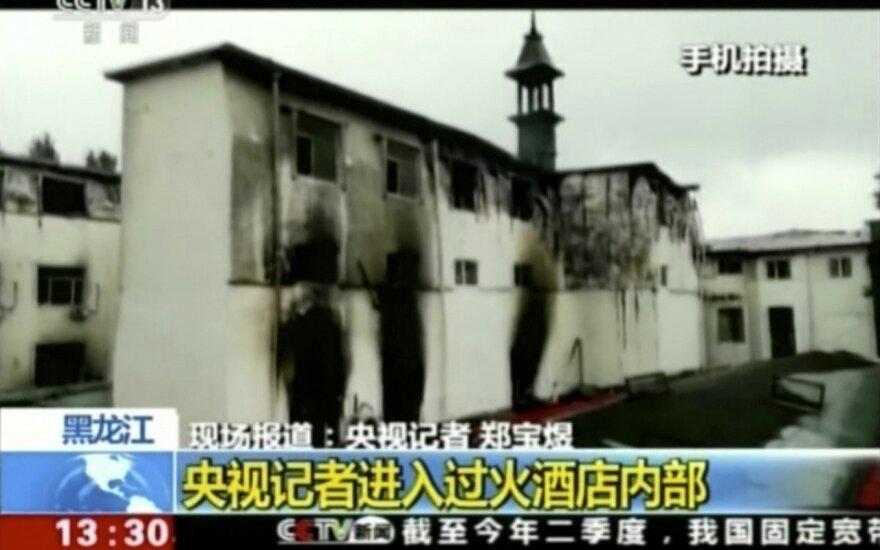 Kinijoje per gaisrą karštųjų versmių kurorto viešbutyje žuvo 19 žmonių