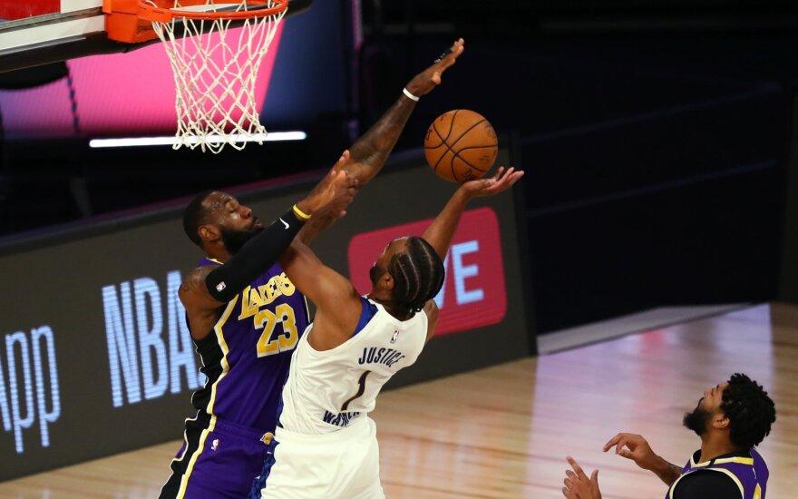 """""""Pacers"""" ir be Sabonio kyla turnyro lentelėje – patiesė """"Lakers"""" su LeBronu"""