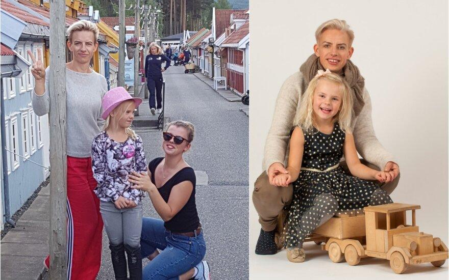 Reda Petrošiūtė su dukromis
