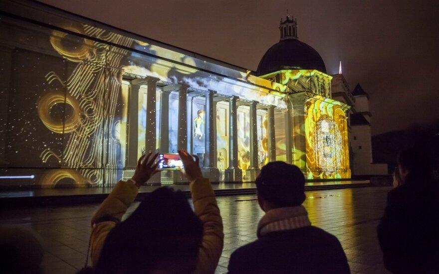 Vilniuje suspindo kalėdinė 3D pasaka
